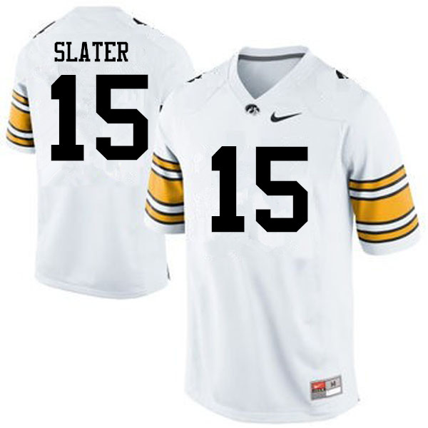 Men Iowa Hawkeyes #15 Duke Slater College Football Jerseys-White