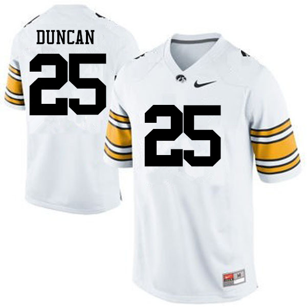 Men Iowa Hawkeyes #25 Randy Duncan College Football Jerseys-White
